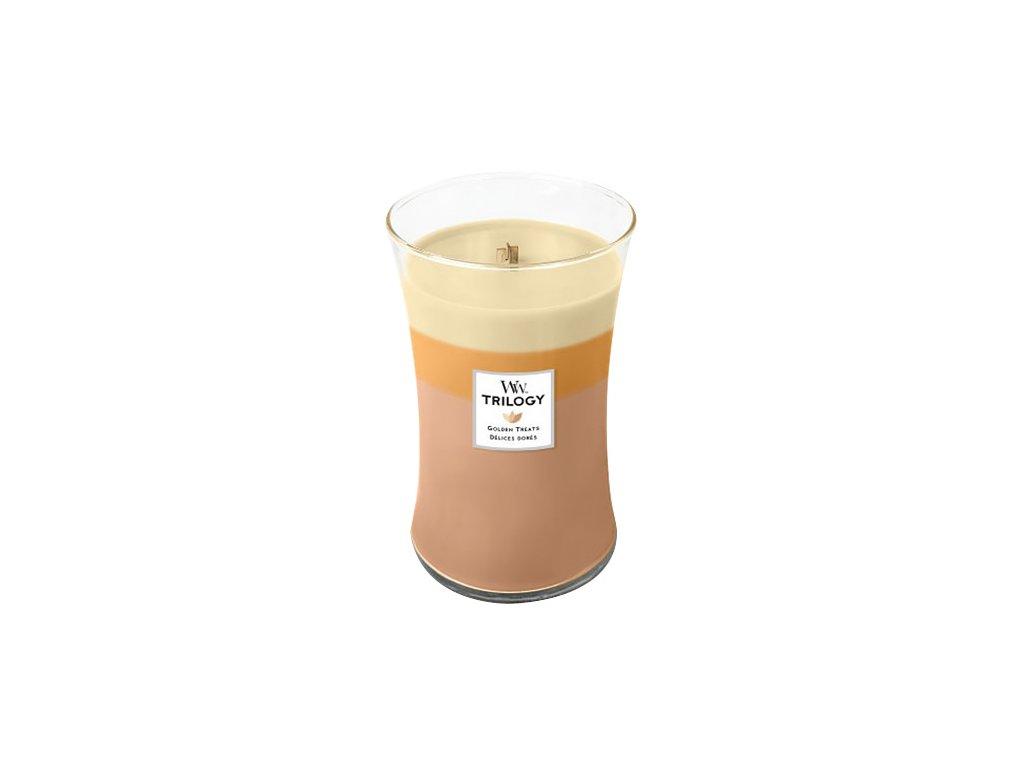 Svíčka Trilogy WoodWick Zlaté lahůdky, 609.5 g