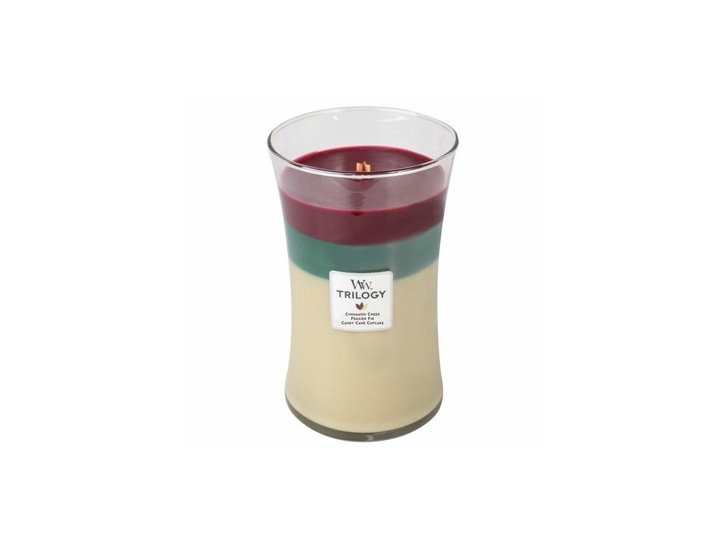 Svíčka WoodWick Trilogy Skořice Christmas vánoční 609.5 g
