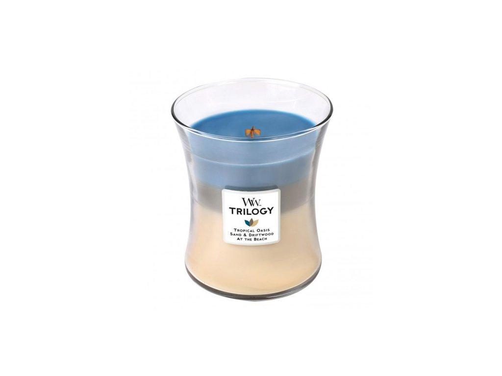 Svíčka Trilogy WoodWick ráj na pobřeží 275 g