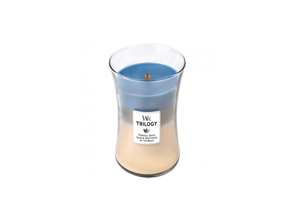 Svíčka Trilogy WoodWick Ráj na pobřeží 609.5 g
