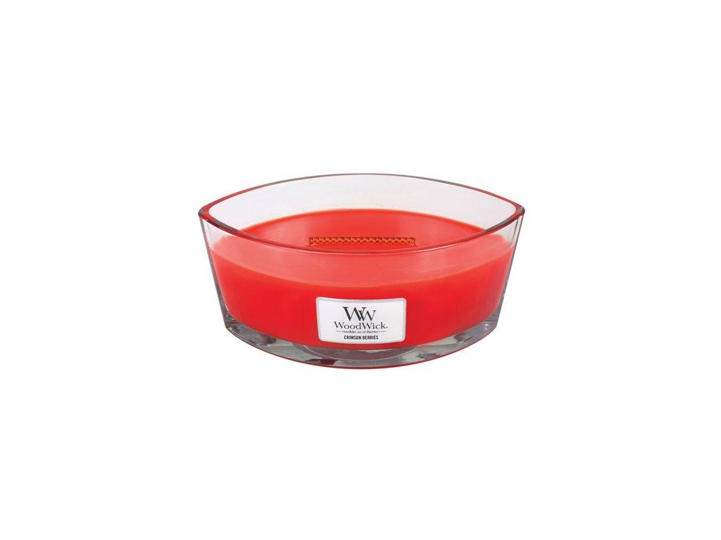 Svíčka Woodwick Červená Jeřabina, skořice , 453,6 g