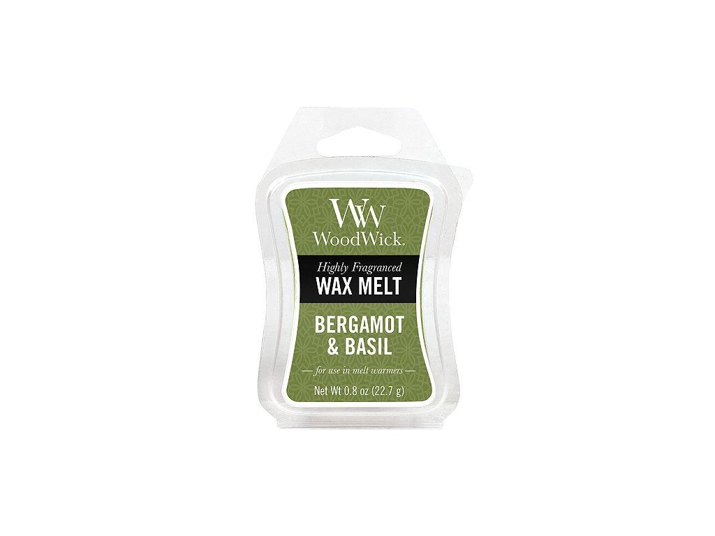Vonný vosk WoodWick 22 g Bergamot a bazalka