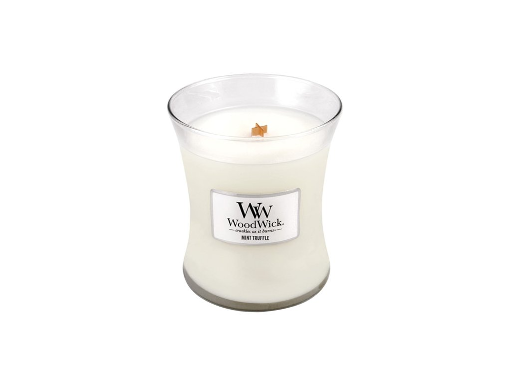 Svíčka Woodwick Máta a lanýž, 275 g