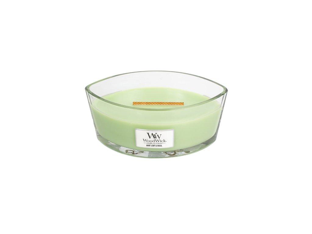 Svíčka Woodwick Máta a bazalka, 453,6 g