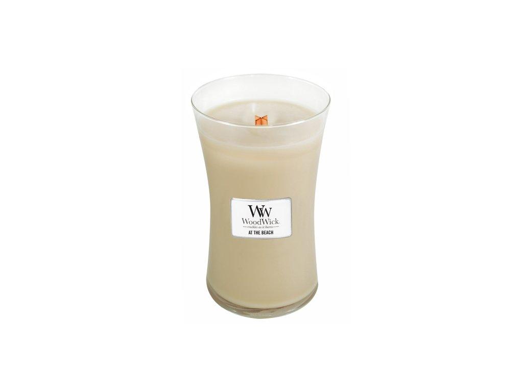 Svíčka oválná váza WoodWick na pláži 609.5 g