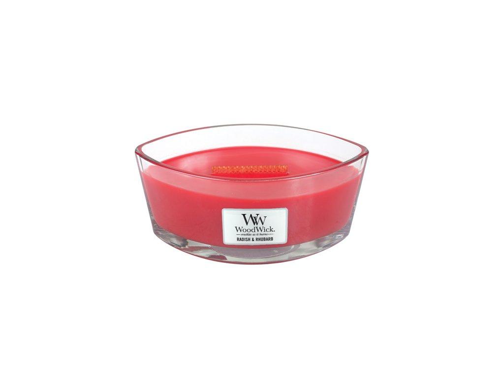 Svíčka WoodWick Ředkev a rebarbora, 453,6 g