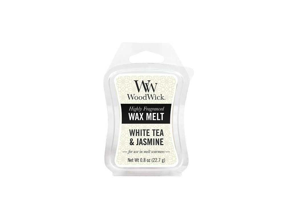 Vonný vosk Woodwick 22 g Bílý čaj a jasmín