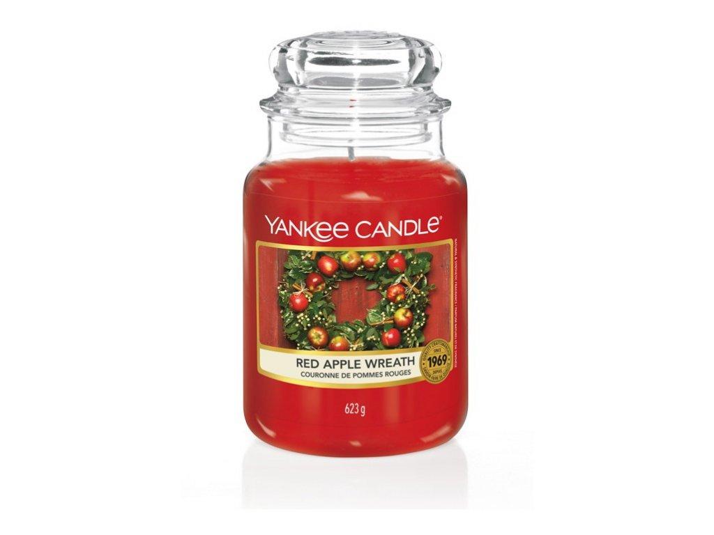 Yankee Candle Věnec z červených jablíček, 623 g classic velký