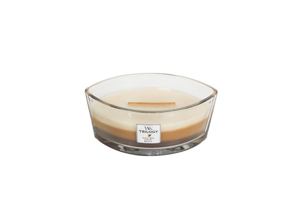 Svíčka Trilogy WoodWick Dezert v kavárně 453,6 g