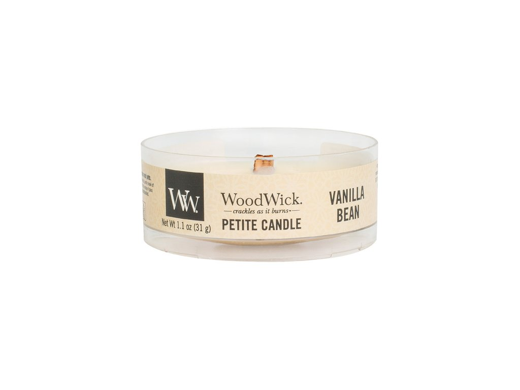 Svíčka WoodWick petite Vanilka, 31 g