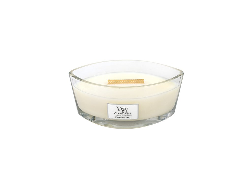 Svíčka dekorativní váza WoodWick Kokosový ostrov 453.6 g