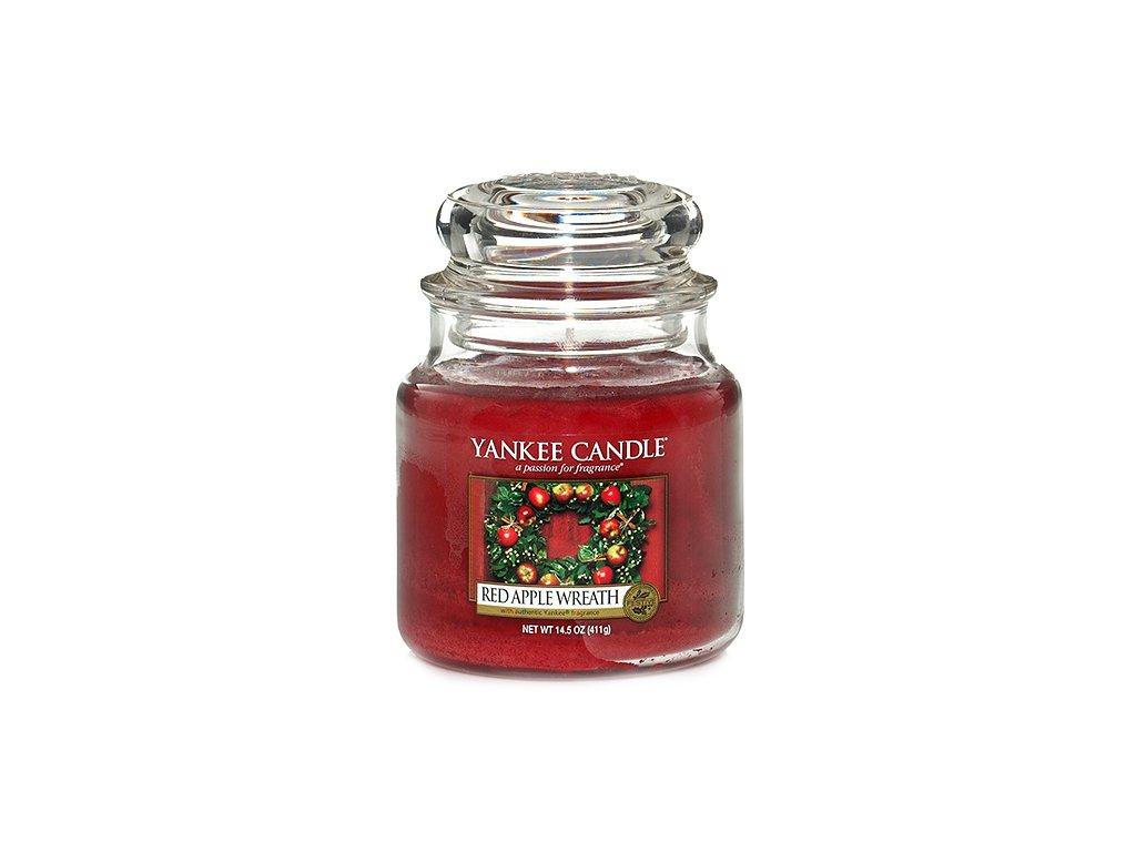 Yankee Candle Věnec z červených jablíček, 410 g classic střední