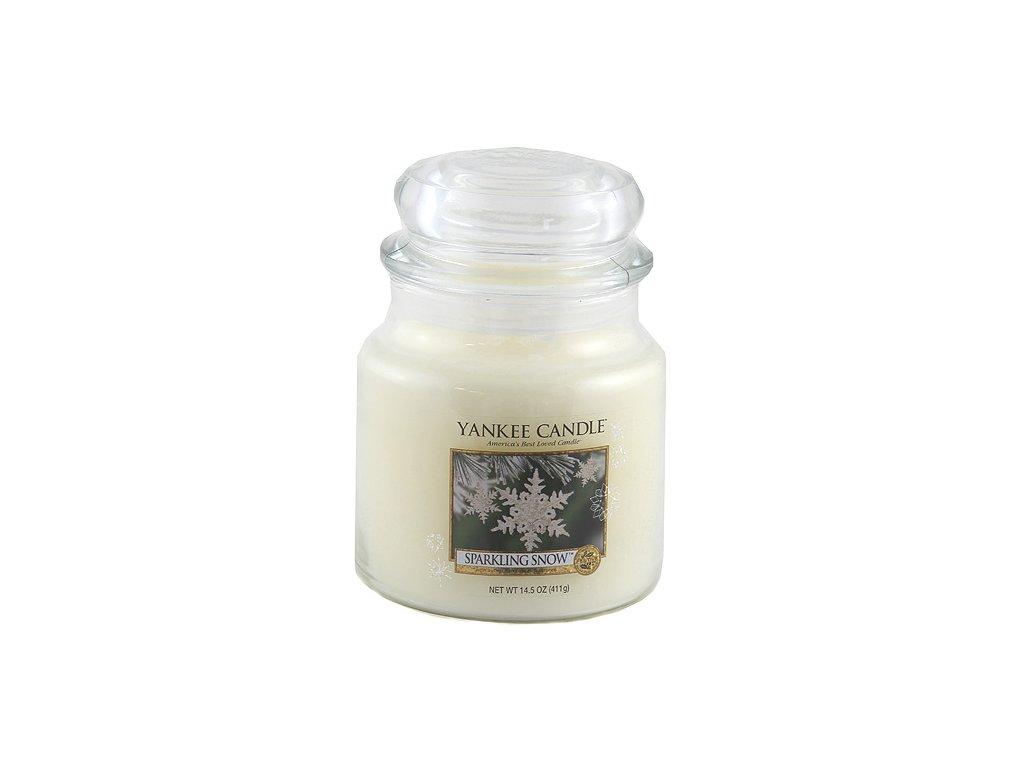 Yankee Candle Třpytivý sníh, 410 g classic střední