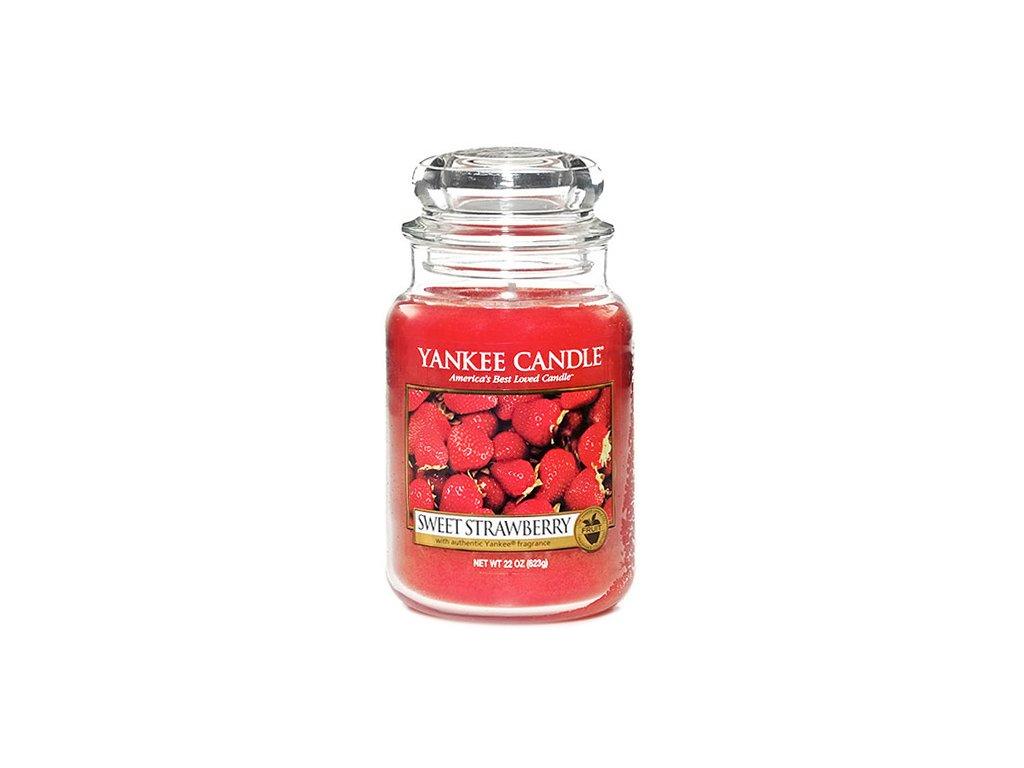 Yankee Candle Sladké jahody, 623 g classic velký