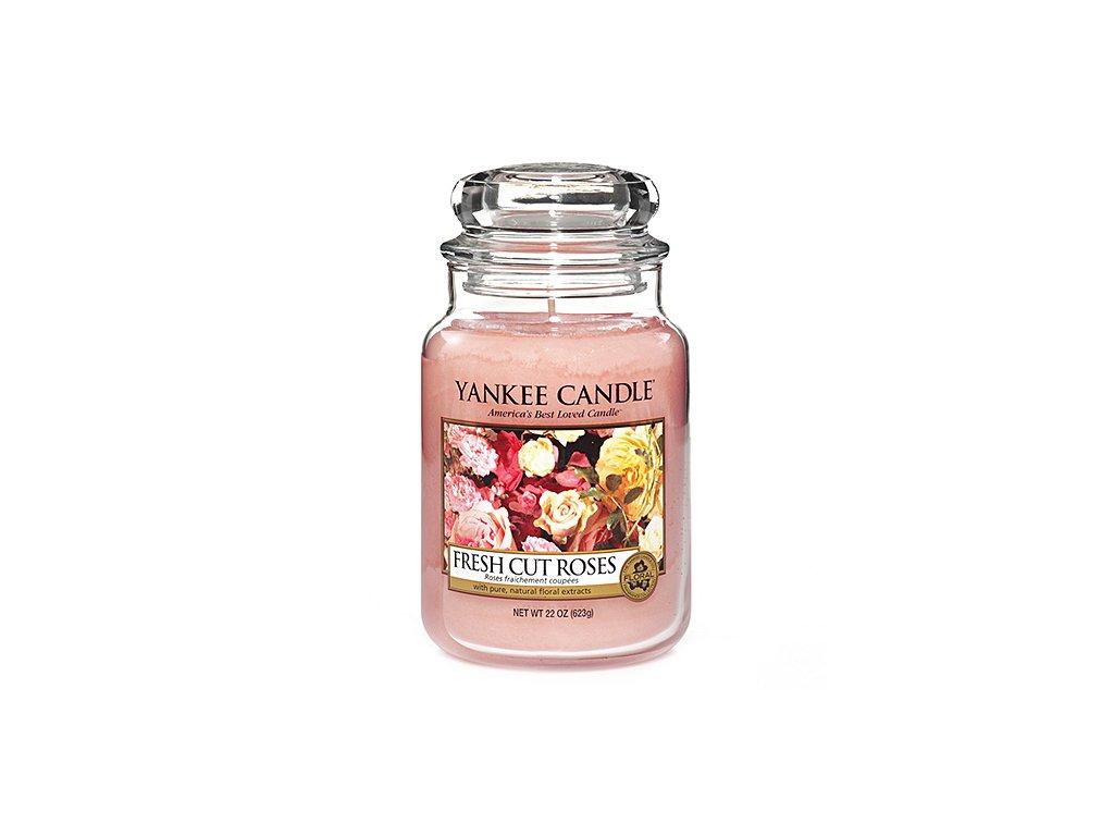 Yankee Candle Čerstvě nařezané růže, 623 g classic velký