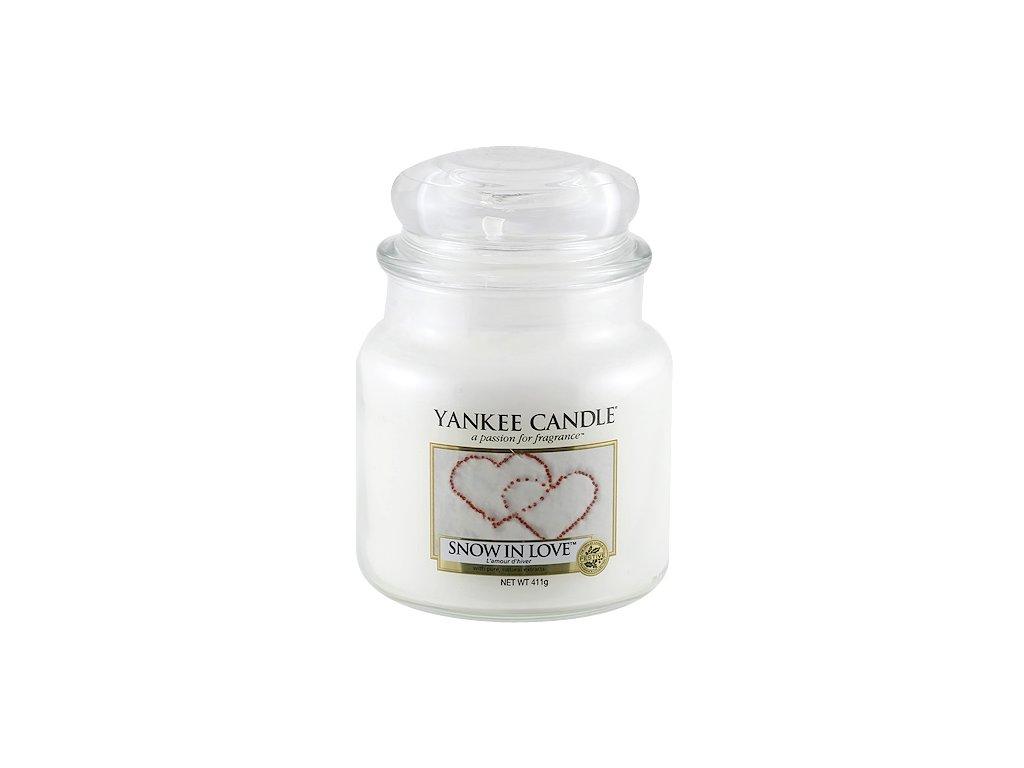 Yankee Candle Zamilovaný sníh, 410 g classic střední