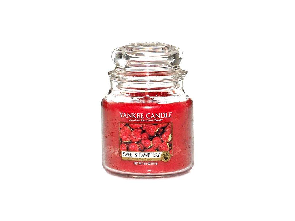 Yankee Candle Sladké jahody, 410 g classic střední