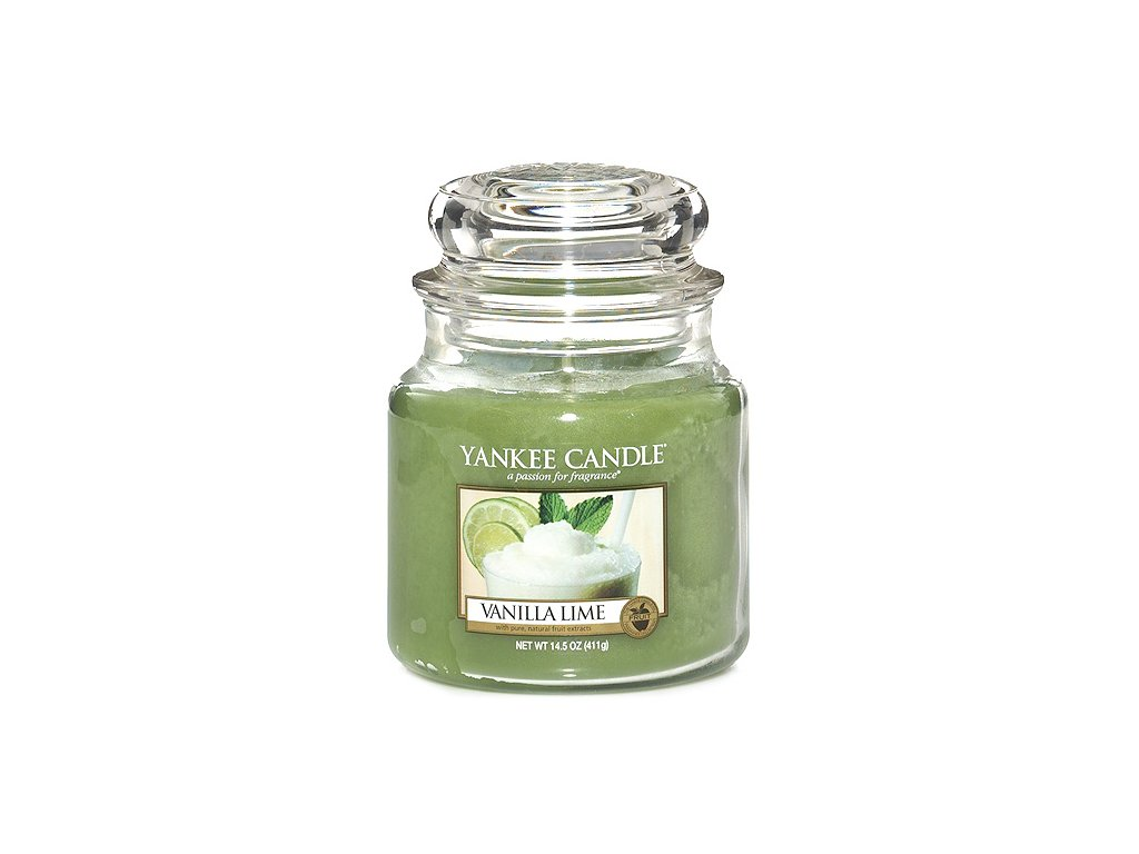 Yankee Candle Vanilka s limetkami, 410 g classic střední