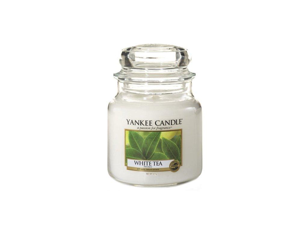 Yankee Candle Bílý čaj, 410 g classic střední
