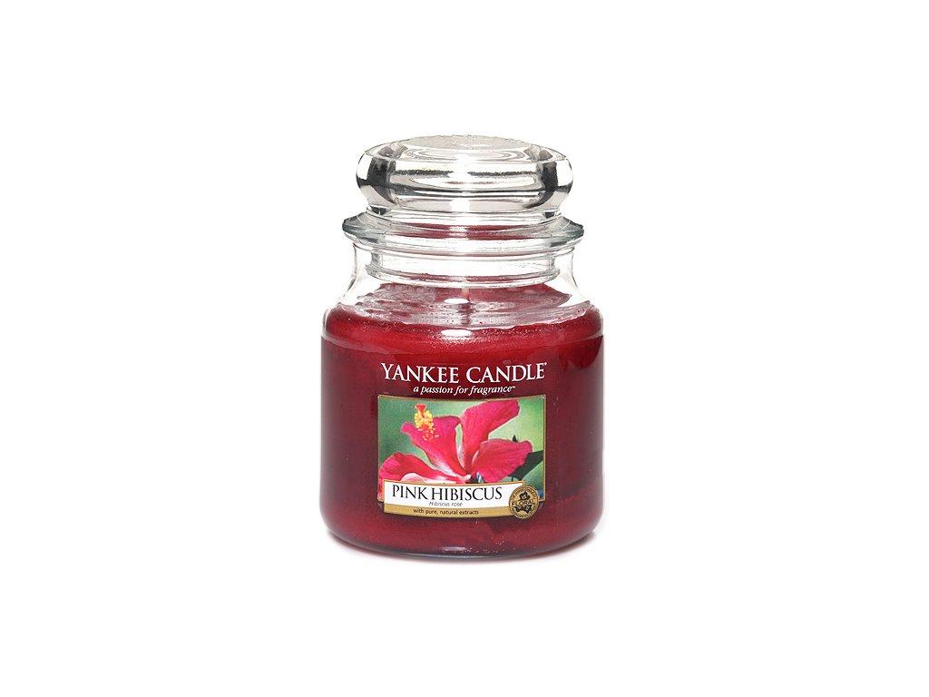 Yankee Candle Růžový ibišek, 410 g classic střední