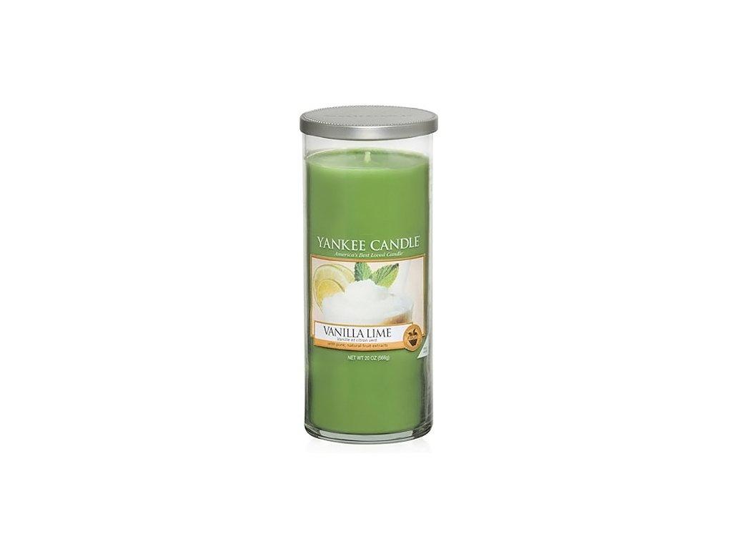 Yankee Candle Vanilka s limetkami, 538 g decor velký