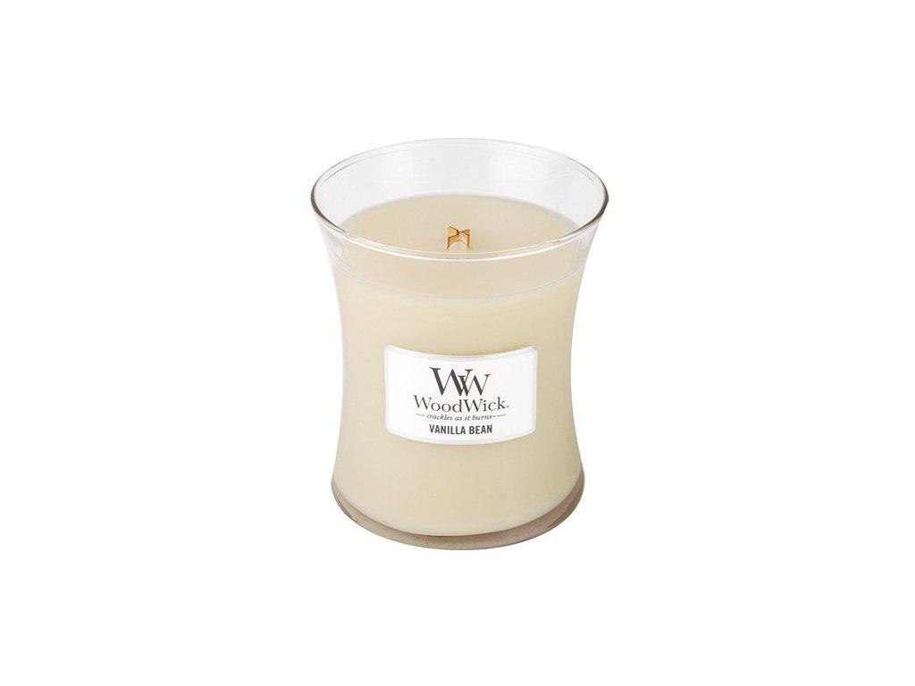 Svíčka oválná váza WoodWick Vanilka 275 g