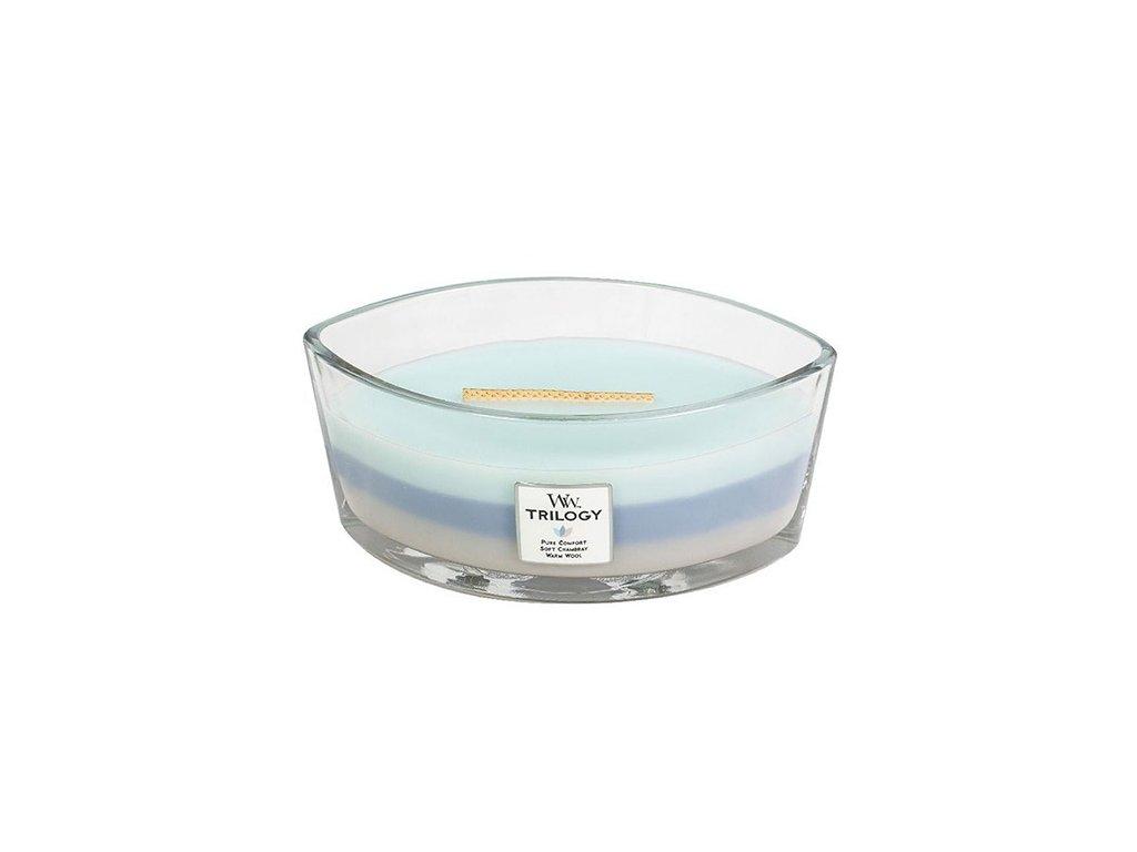 Svíčka dekorativní váza WoodWick Hřejivé pohodlí 453,6 g