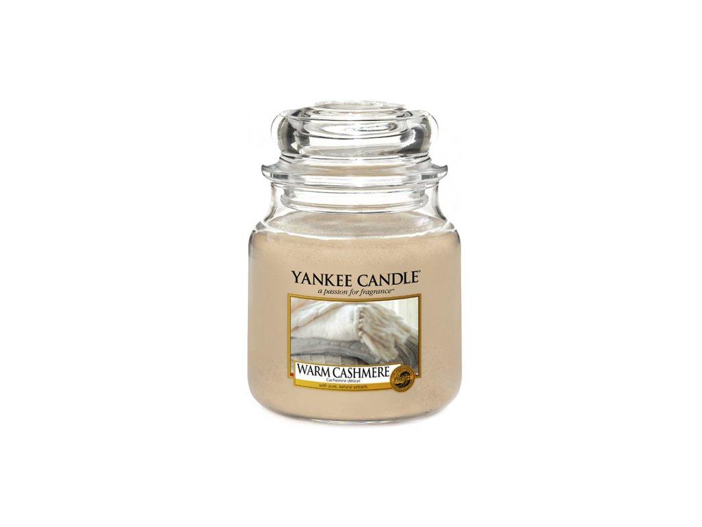 Yankee Candle Hřejivý kašmír, 410 g classic střední