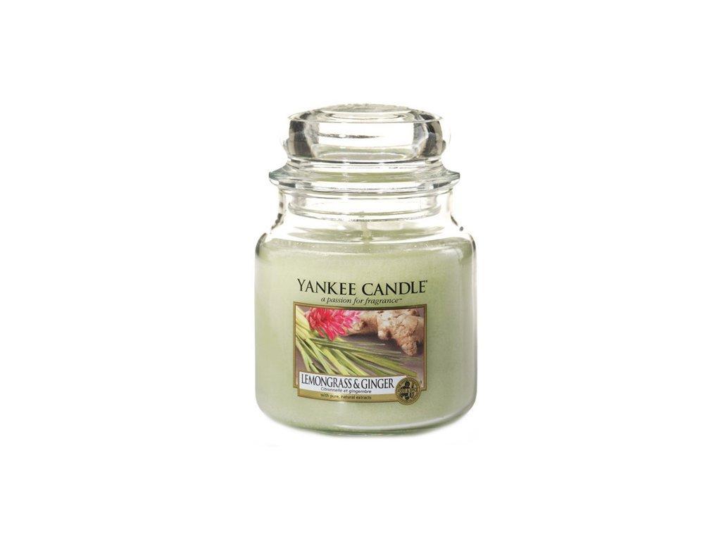 Yankee Candle Citrónová tráva a zázvor, 410 g classic střední