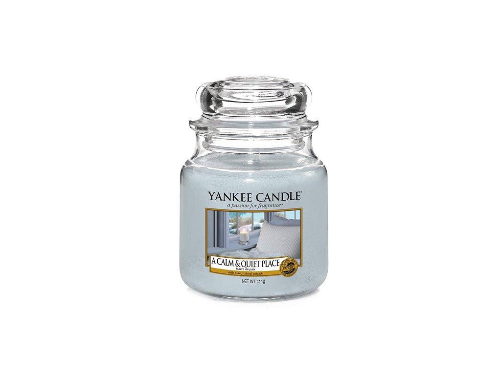 Yankee Candle Klidné a tiché místo, 410 g classic střední