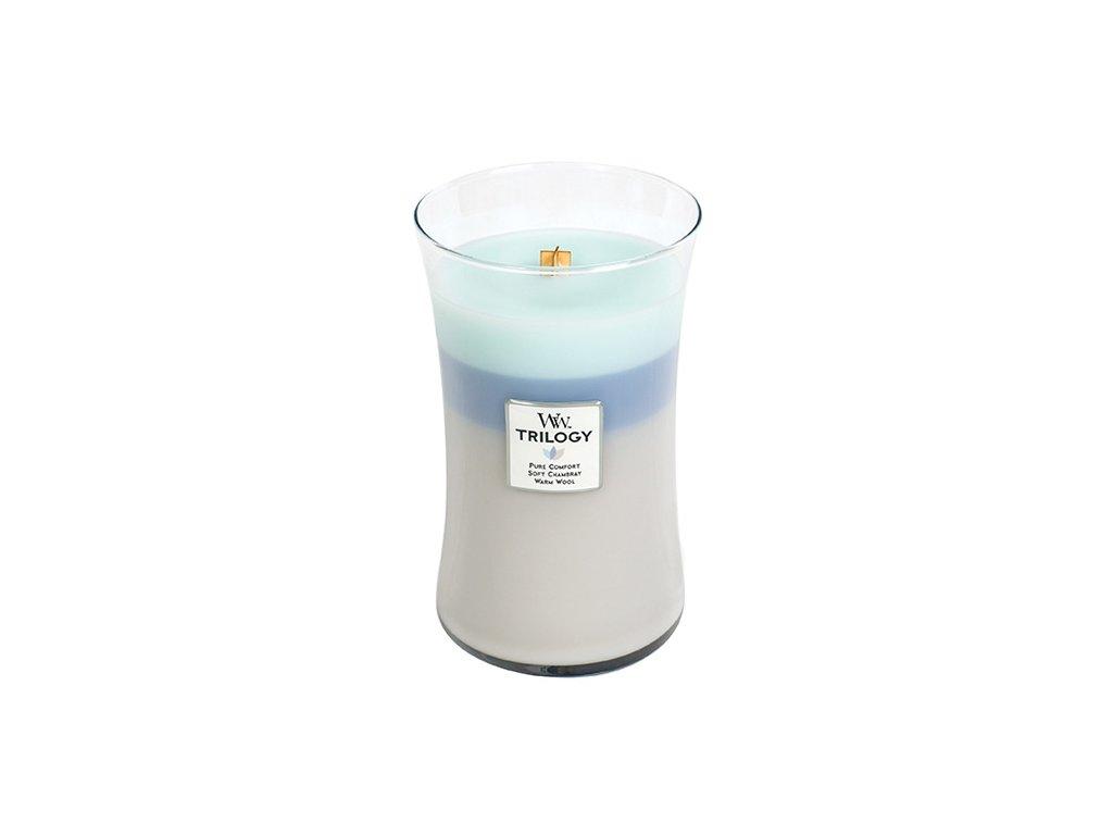 Svíčka Trilogy Woodwick 609.5 g Hřejivé pohodlí