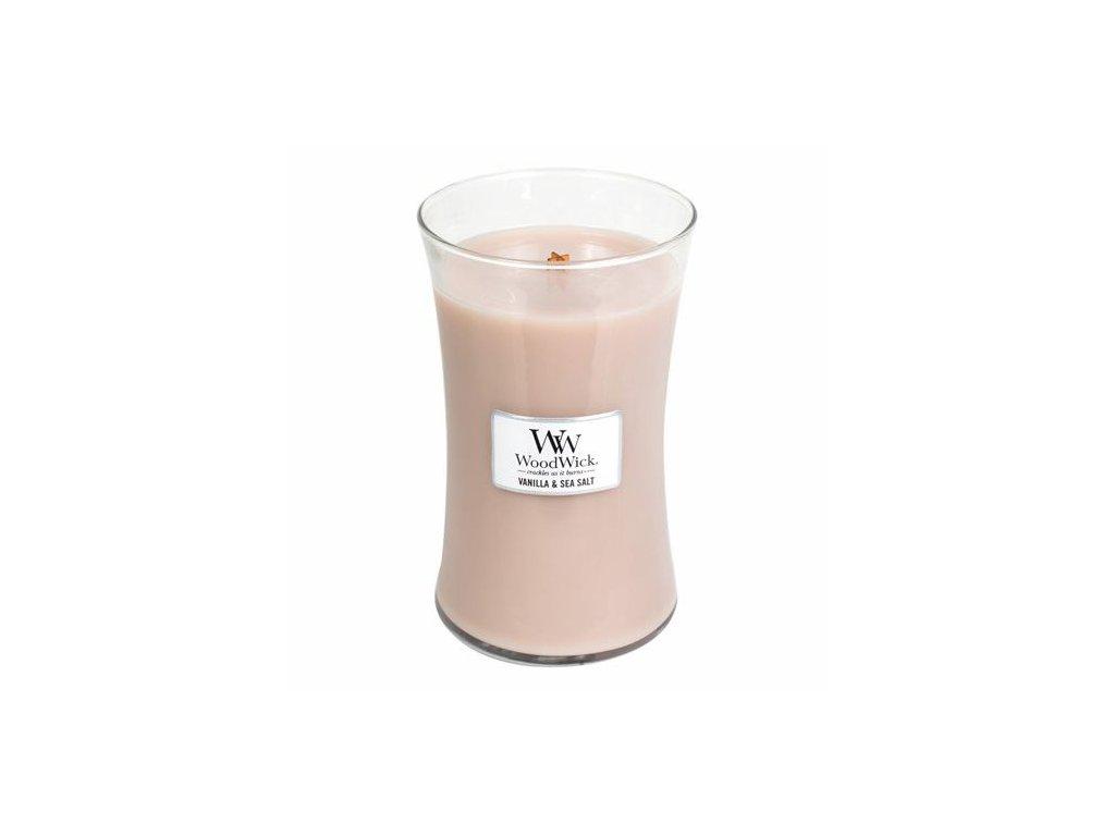 Svíčka oválná váza WoodWick Vanilka a mořská sůl 609.5 g