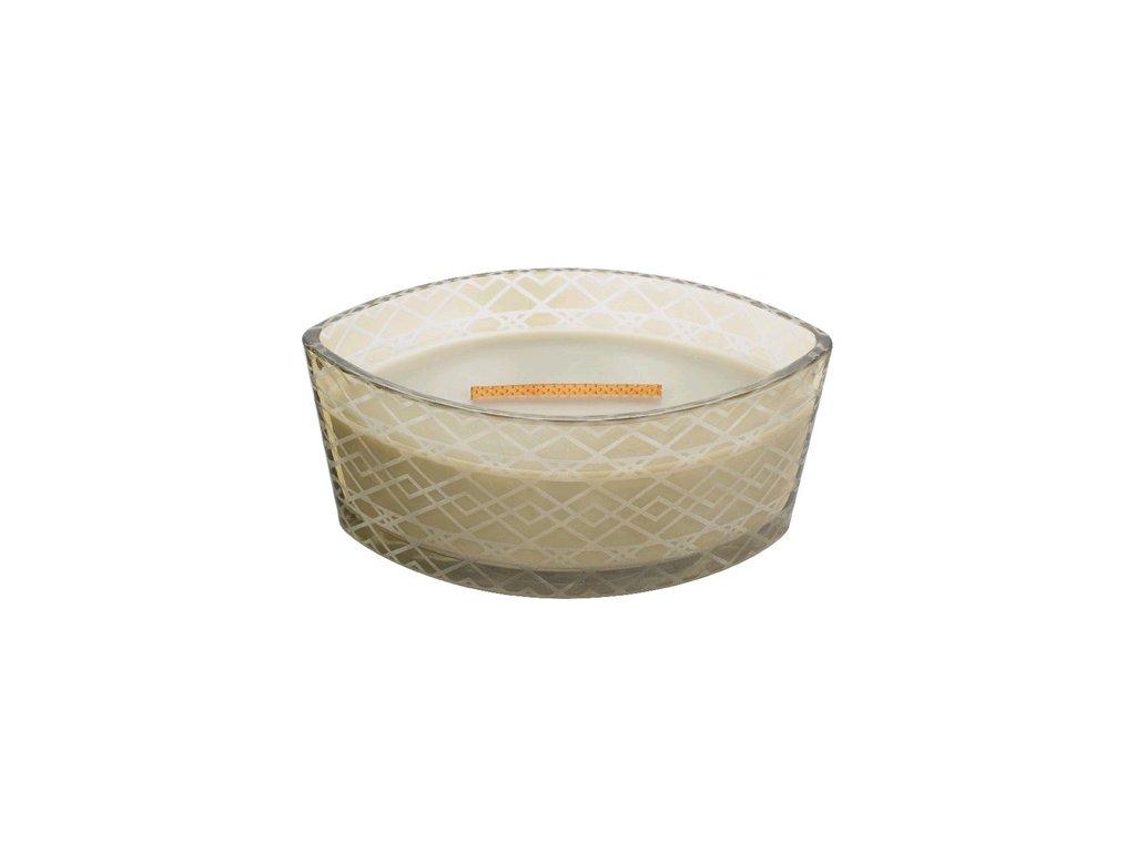 Svíčka dekorativní váza WoodWick Oheň v krbu sváteční 453.6 g