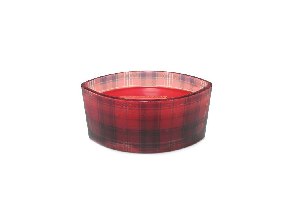 Svíčka dekorativní váza WoodWick Červená jeřabina kostka 453.6 g