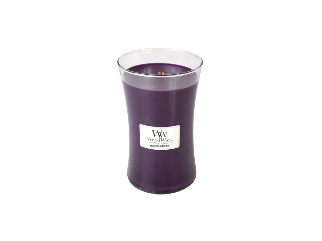 Svíčka oválná váza WoodWick Pikantní ostružina 609.5 g