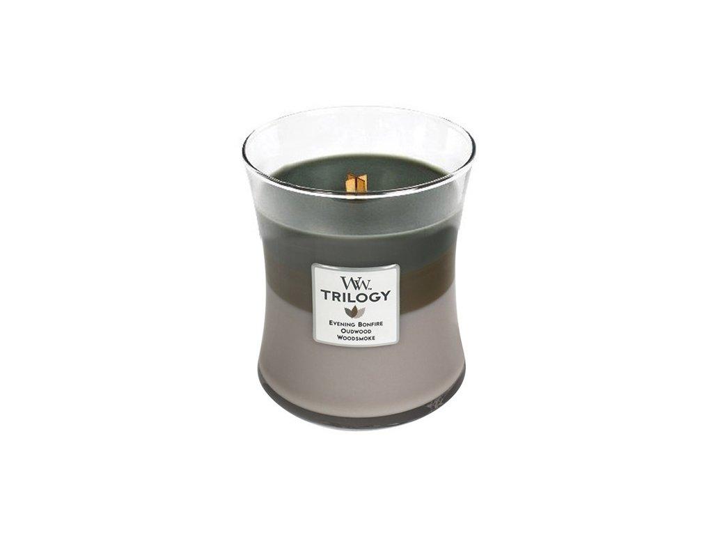 Svíčka Trilogy WoodWick Útulný srub, 275 g