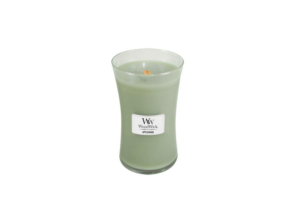 Svíčka oválná váza WoodWick Jabloňové dřevo 609.5 g