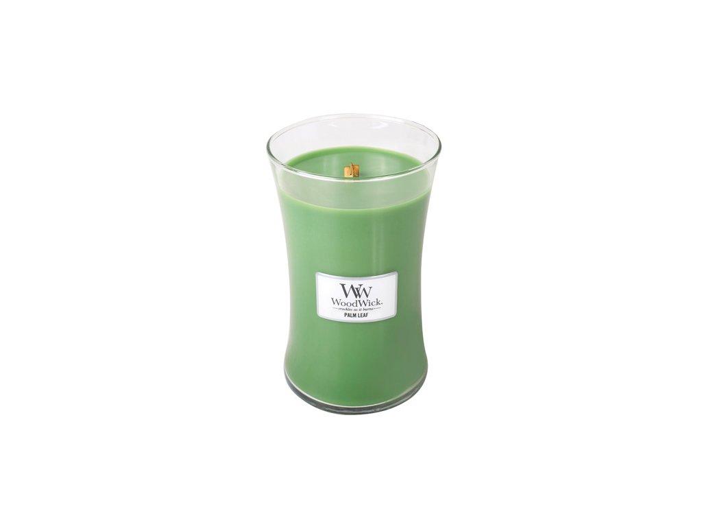 Svíčka oválná váza WoodWick Palmový list 609.5 g