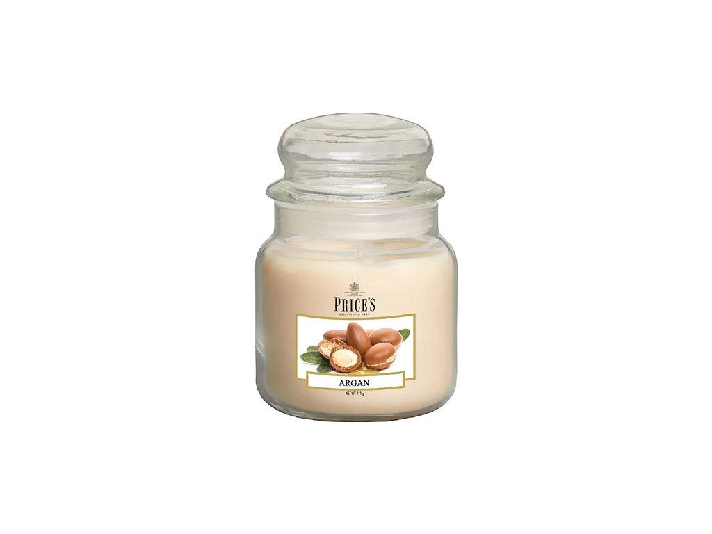 Svíčka ve skleněné dóze Price´s Candles Argan 411 g