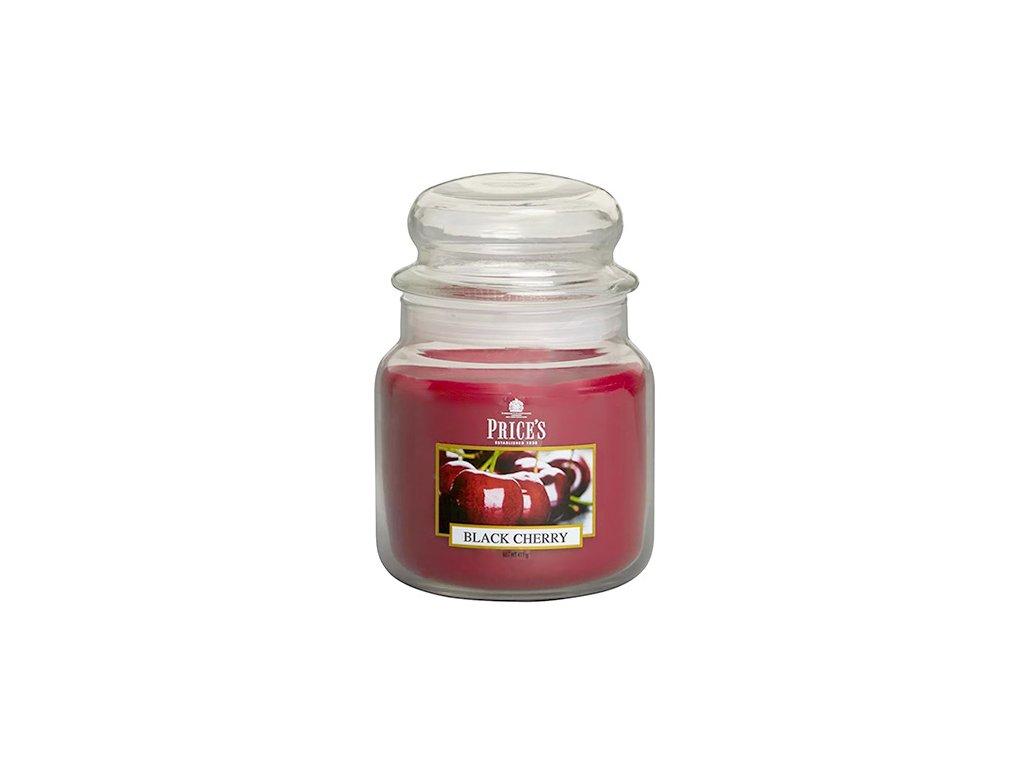 Svíčka ve skleněné dóze Price´s Candles Černá třešeň 411 g