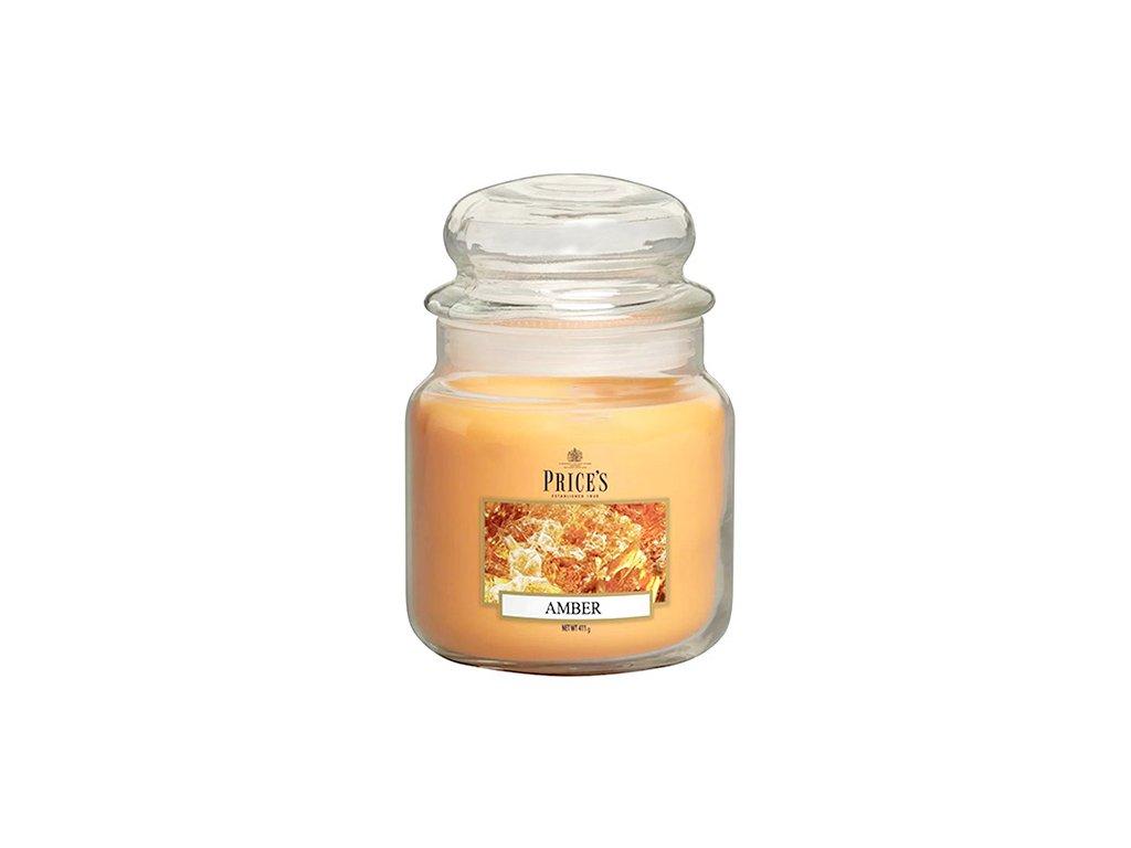 Svíčka ve skleněné dóze Price´s Candles Jantar 411 g
