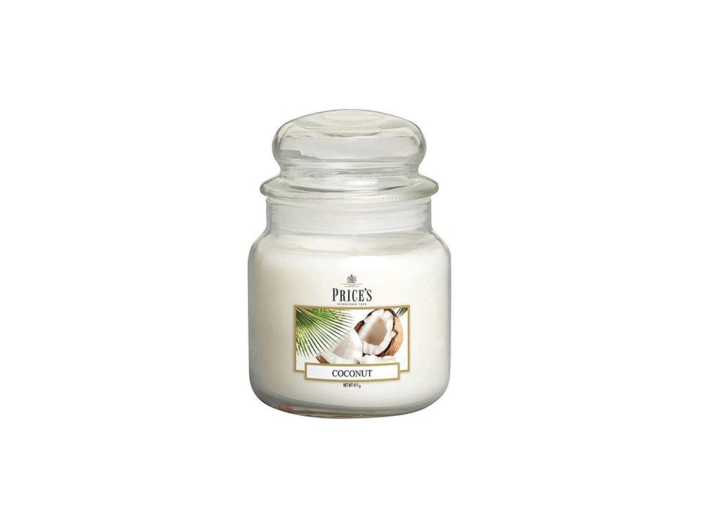 Svíčka ve skleněné dóze Price´s Candles Kokos 411 g