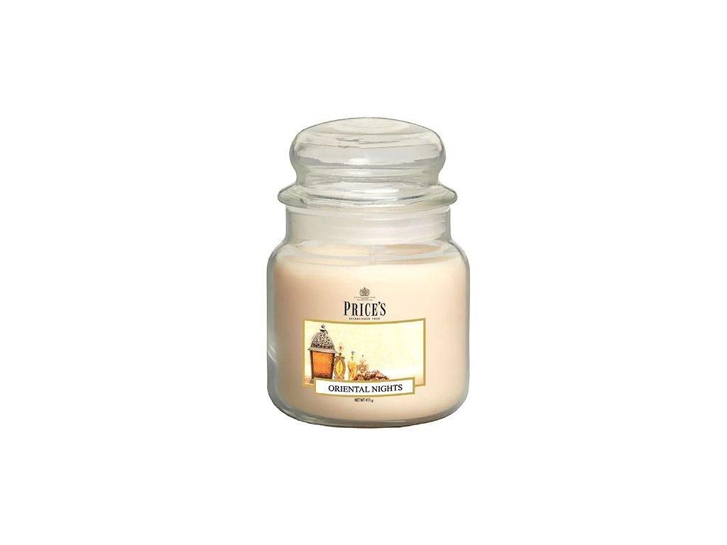 Svíčka ve skleněné dóze Price´s Candles Orientální noci 411 g