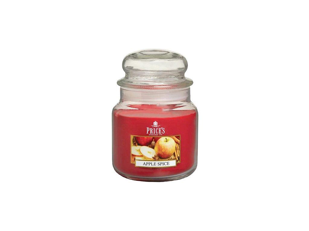Svíčka ve skleněné dóze Price´s Candles Pikantní jablko 411 g