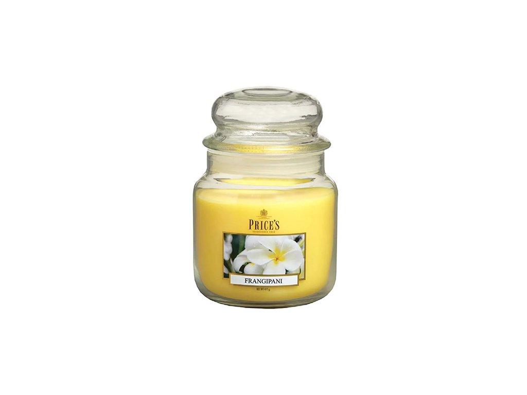 Svíčka ve skleněné dóze Price´s Candles Plumérie 411 g