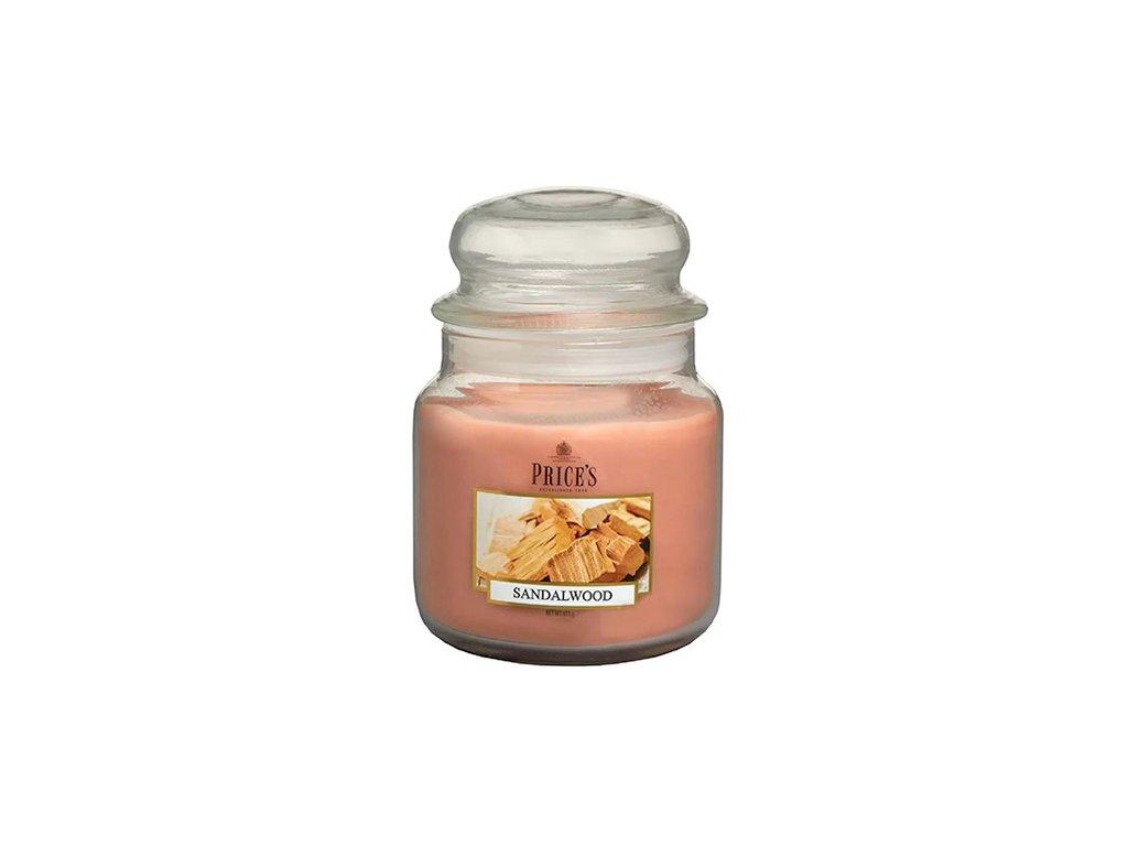 Svíčka ve skleněné dóze Price´s Candles Santalové dřevo 411 g