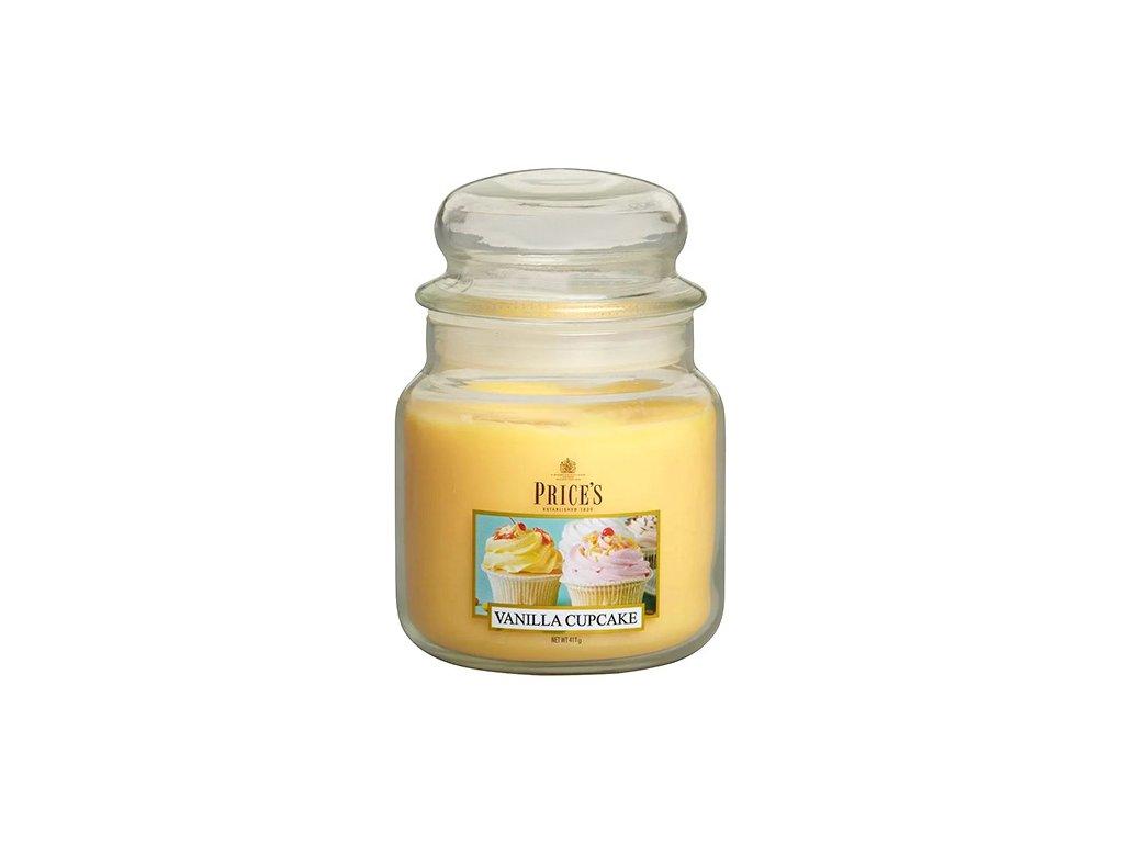Svíčka ve skleněné dóze Price´s Candles Vanilkový košíček 411 g