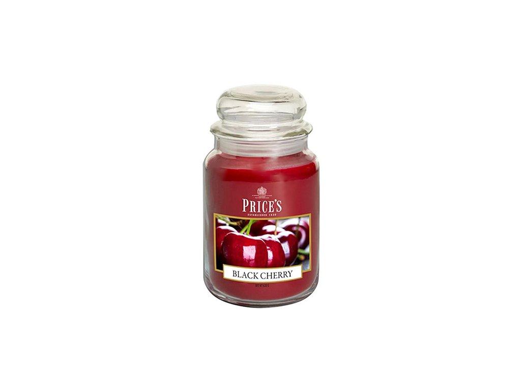 Svíčka ve skleněné dóze Price´s Candles Černá třešeň 630 g