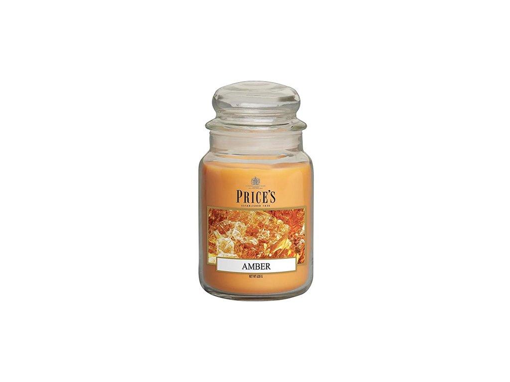Svíčka ve skleněné dóze Price´s Candles Jantar 630 g