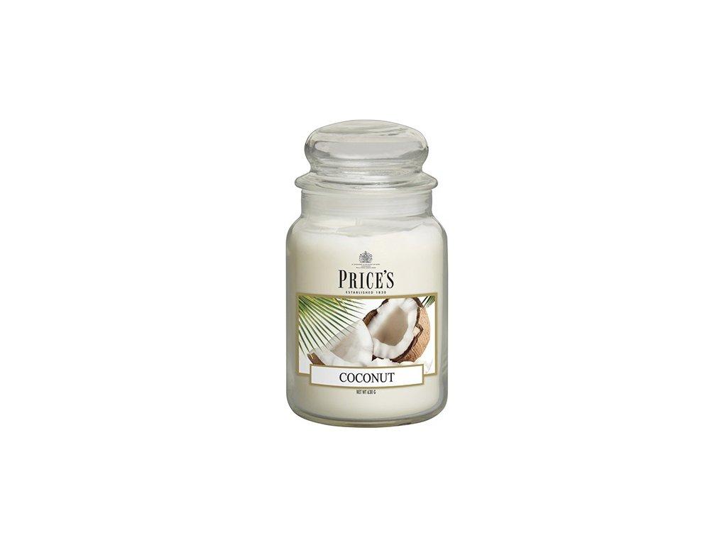 Svíčka ve skleněné dóze Price´s Candles Kokos 630 g
